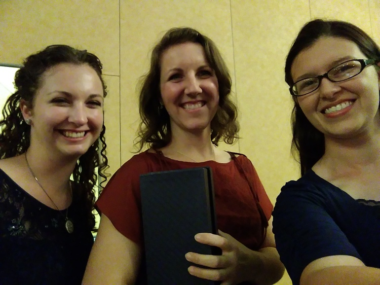Me (Jessica Kate), 'The Lady and the Lionheart' author Joanne Bischof, and my roommate Angela Carlisle at the 2017 ACFW Conference gala in Grapevine, Texas!