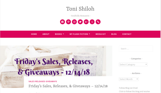 Toni Shiloh's book blog