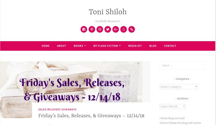 Toni Shiloh's book blog