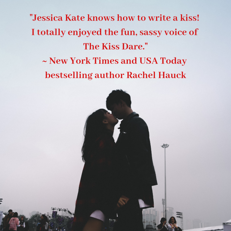 New York Times bestseller Rachel Hauck endorses Jessica Kate's The Kiss Dare.
